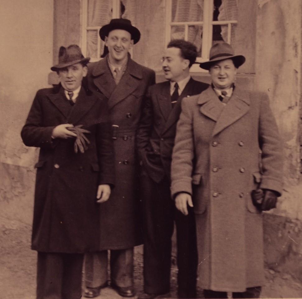 v. l. Karl Braun, Erich Weber Günther Stadler und Mathäus Seithel