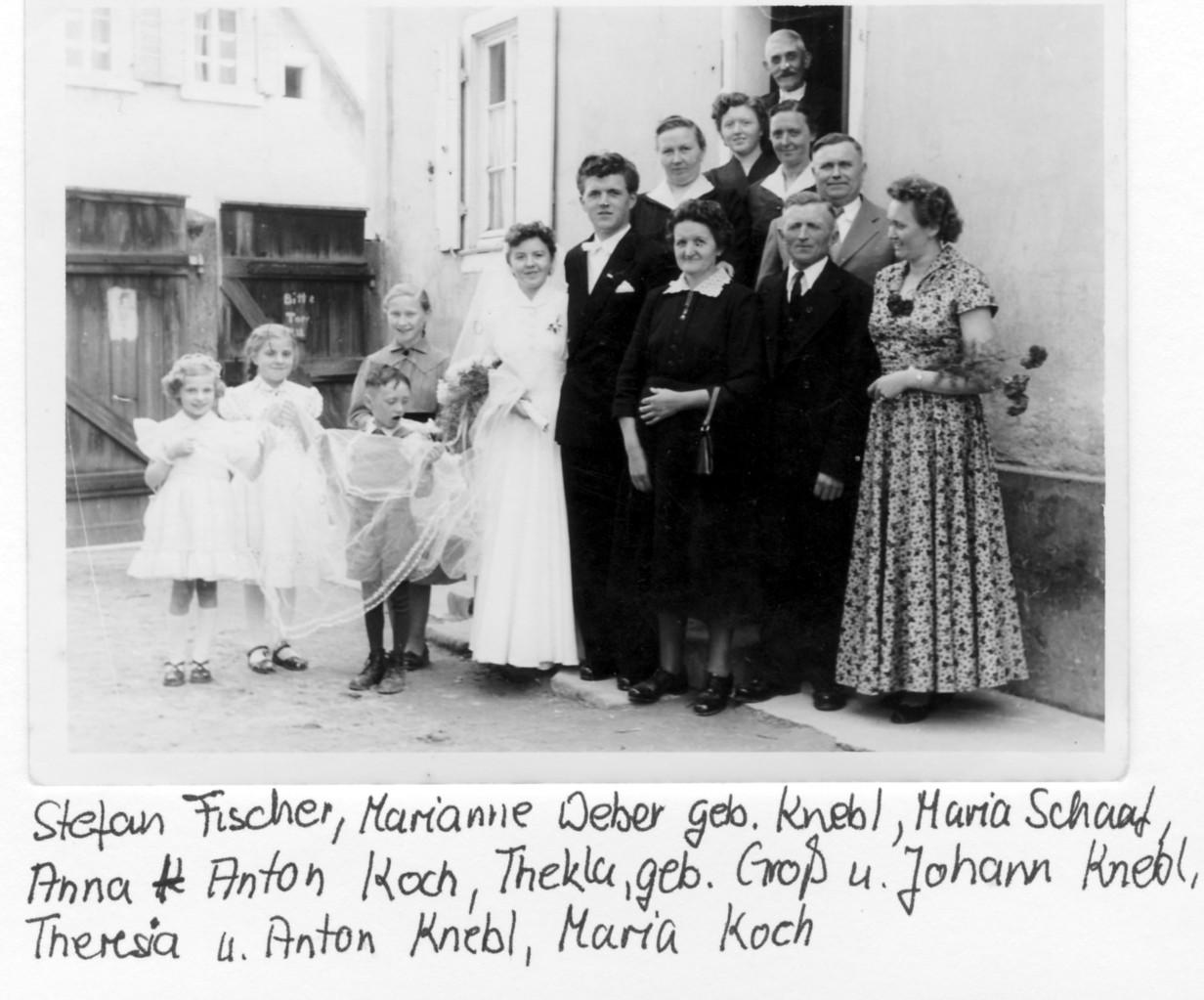 Hochzeitsgesellschaft Knebl und Groß