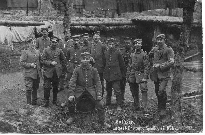 Jakob Sieber mit Kameraden in Galizien, 1917