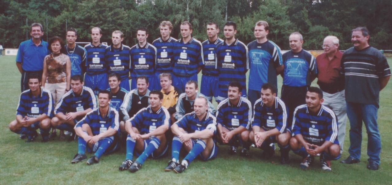 1. Mannschaft mit Trainer Günter Müller im Jahr 2001