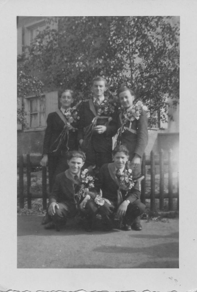 Musterung 1943: Otto Adam, Karl Grundhöfer, Günter Stadler, Rudolf Janz, Alois Mattern