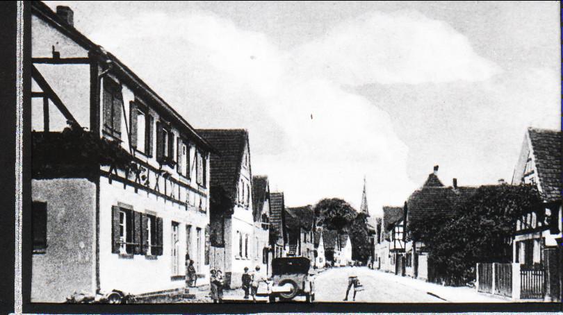 Hauptstraße, ca. 1921, heute Gäustraße