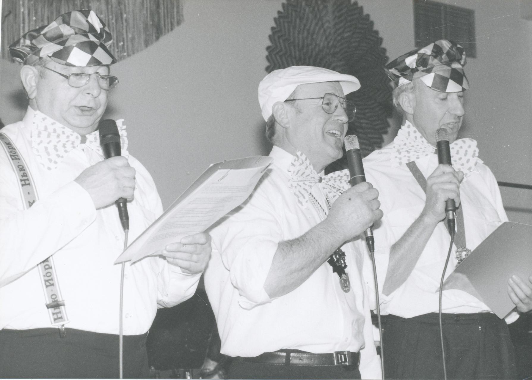 Närrische Singstunde 1996 mit Otmar Klohe, Arthur Röther und Peter Birlem