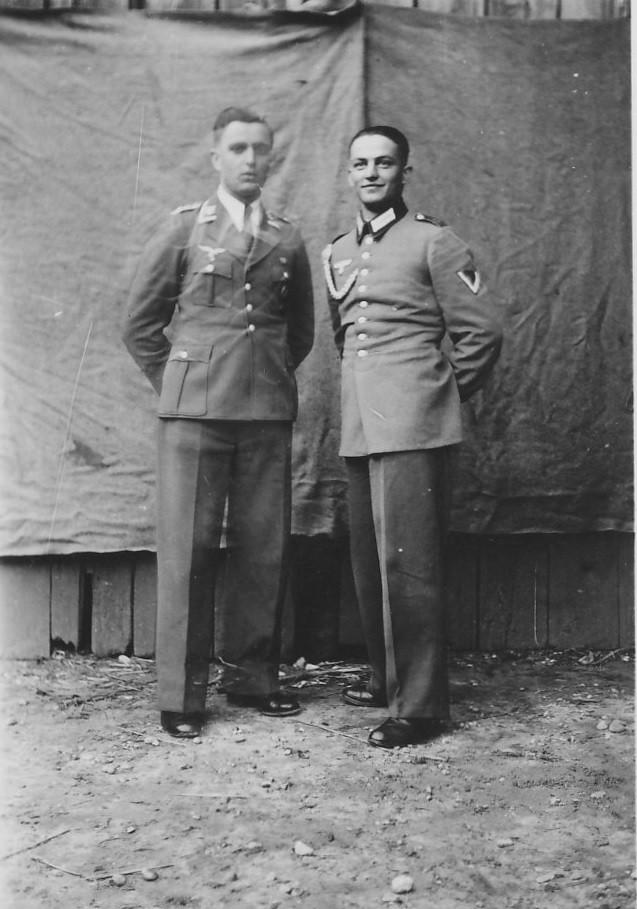 Eugen Schaaf mit Kriegskamerad