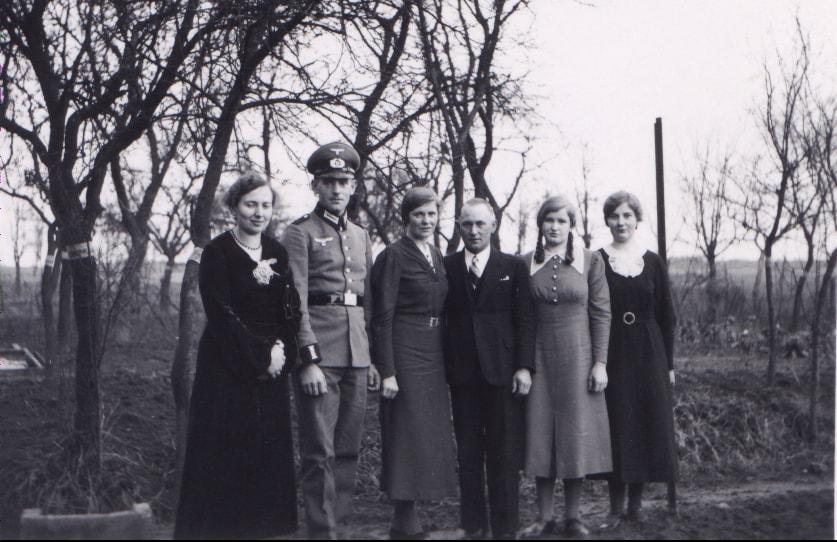 1937, Brautpaar und Geschwister