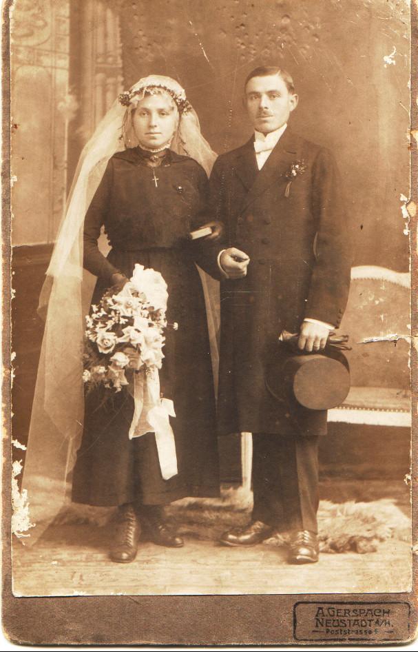 Ehepaar Nebel Adam (Chausseegard) Katharina geb. Weber