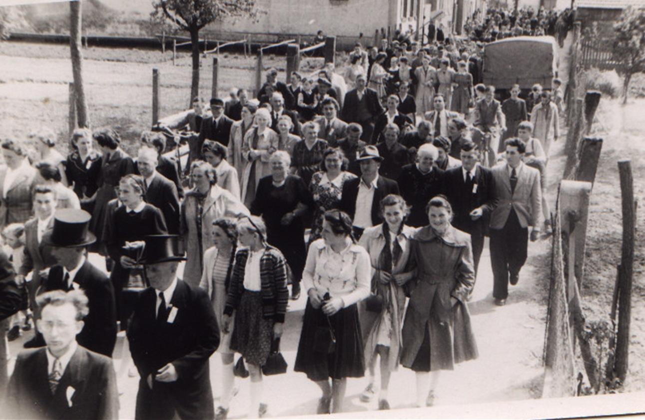 Festumzug des MGV 1953 beim 85. Stiftungsfest