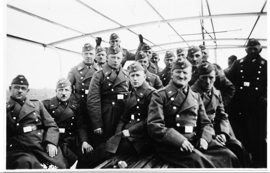 Soldaten am Bunker am Schlittweg, 1939, u.a. Arthur Kästel, Albert Groß, Karl Röther, Rudolf Eberley