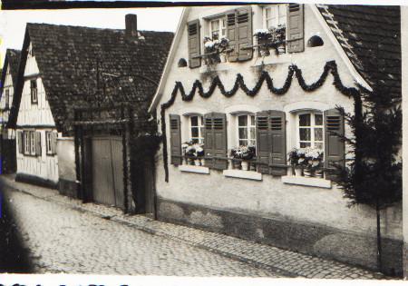 Weihergasse Nr. 16, Engler, Primiz Pater Alois Engler 1939