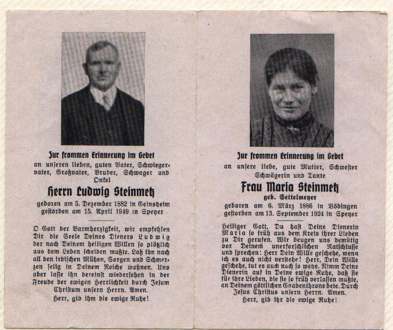 Ludwig und Maria Steinmetz
