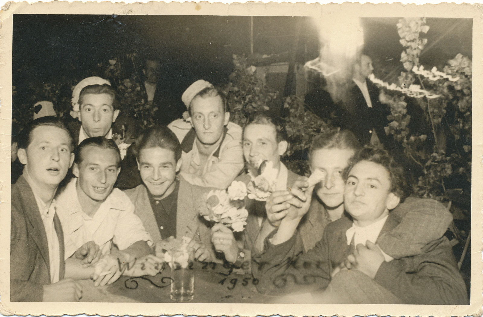 Karl Adam mit Freunden