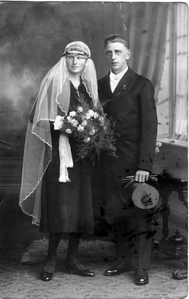Ehepaar Manger Alfons (später Bürgermeister) und Veronika geb. Schneider, ca. 1929