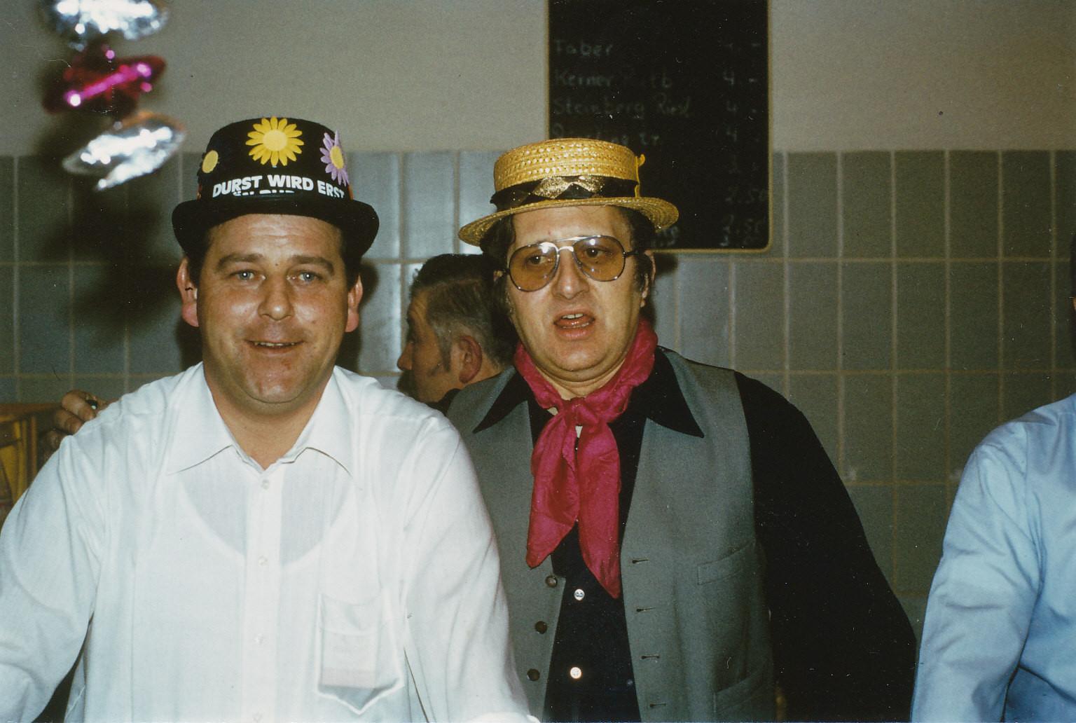 Närrische Singstunde 1980 mit Otto Bockmeier und Karl Adam