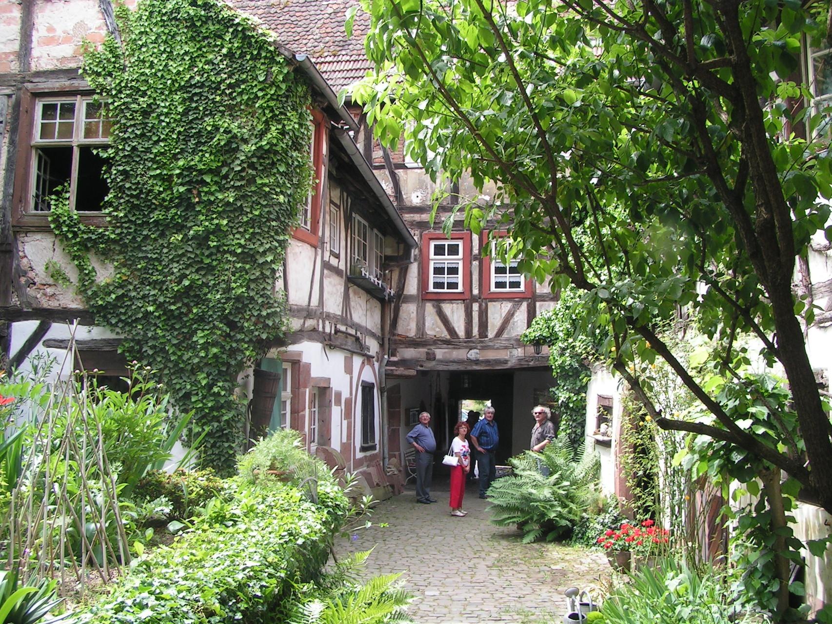 Innenhof des ehemaligen Hotels in Weißenburg