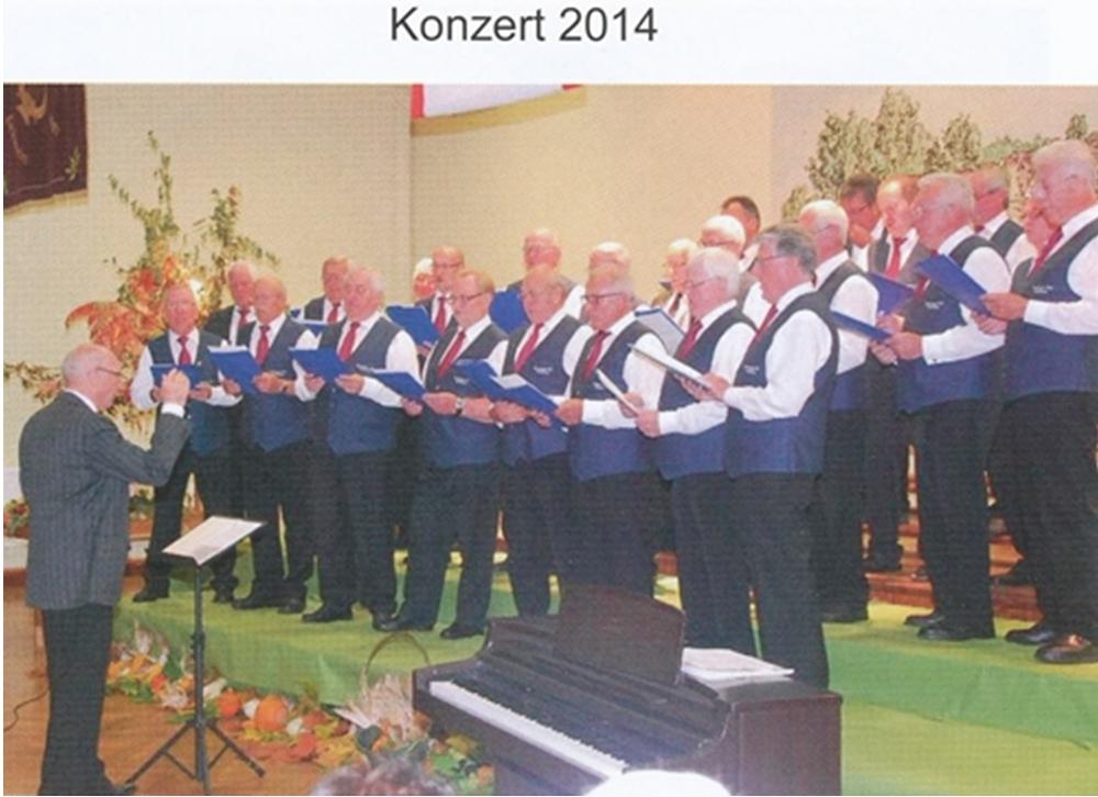Konzert der Chorsänger 2014