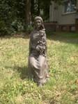 Madonna di Vallár, 84 cm hohe Figur in gebranntem Ton