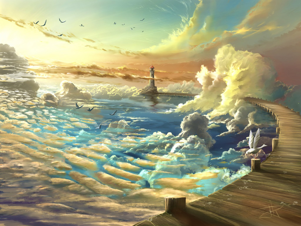 On Shore of the Sky