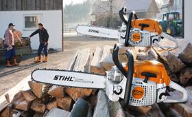 Brennholzsäge - Brennholz - Brennholzernte - Brennholzeinschlag