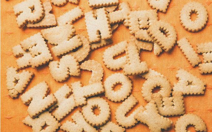 【画像】アルファベットのクッキー