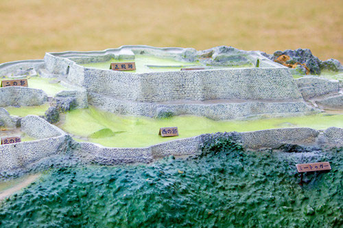 世界遺産中城城の模型
