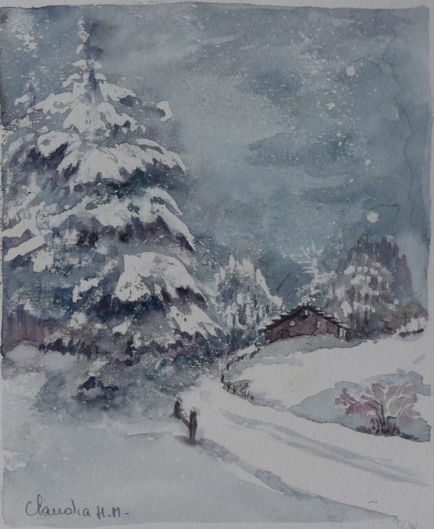 il neige toujours
