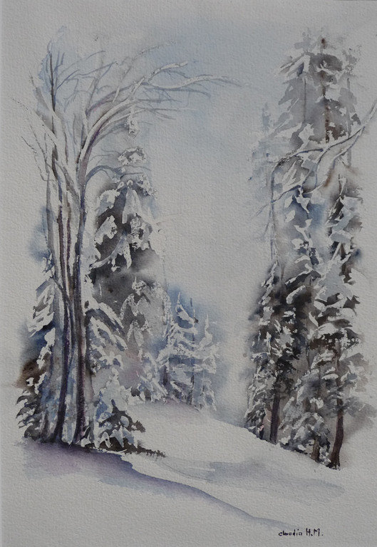 neige en forêt