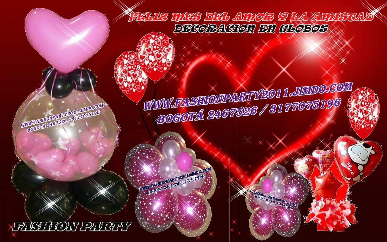 Globos y amor y amistad fashion party decoracion en for Decoracion amor y amistad