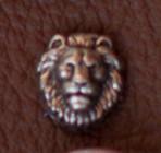 Zierniete Löwe mini 1 cm 2,00 Euro je Niete altsilber