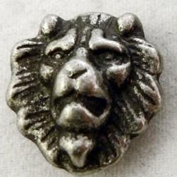 Zierniete Löwe klein 15mm breite 2,50 Euro je Niete in altsilber oder messing
