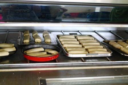 ミートロールをオーブンでこんがりと。