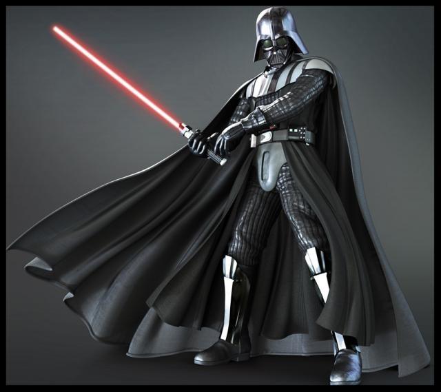 Darth Vader, amb tots els atributs de l'antagonista mític. George Lucas és una fan de la mitologia.