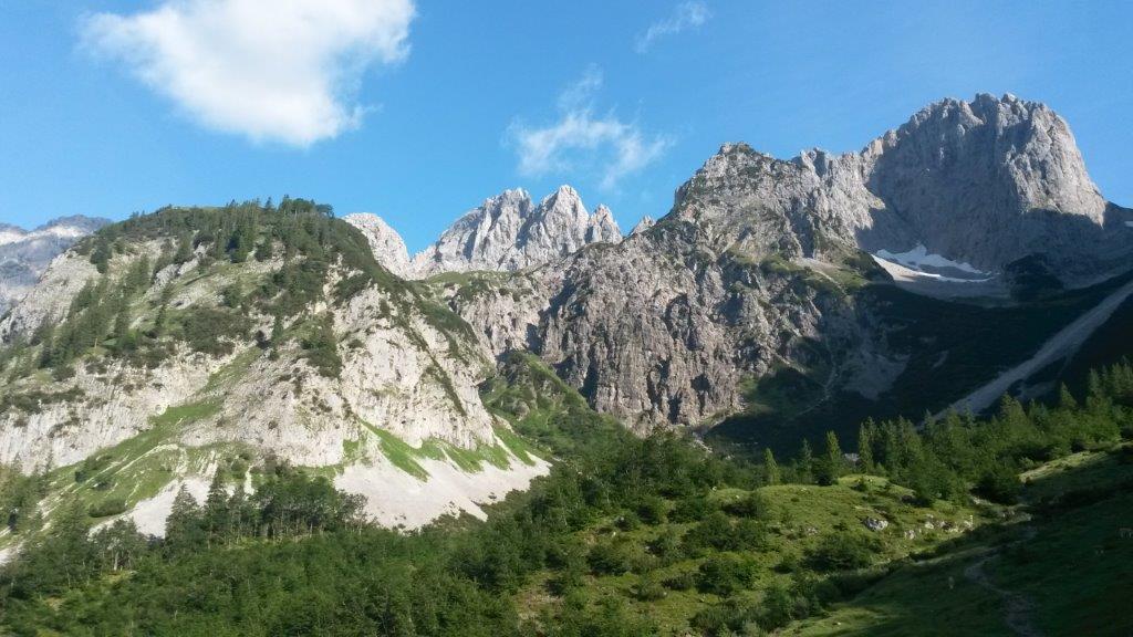 Bergtouren auf der Gaudeamushütte