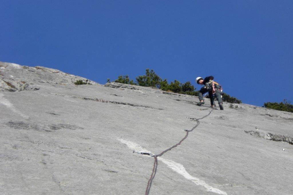 Alpin Klettern Halltal Plattenturm
