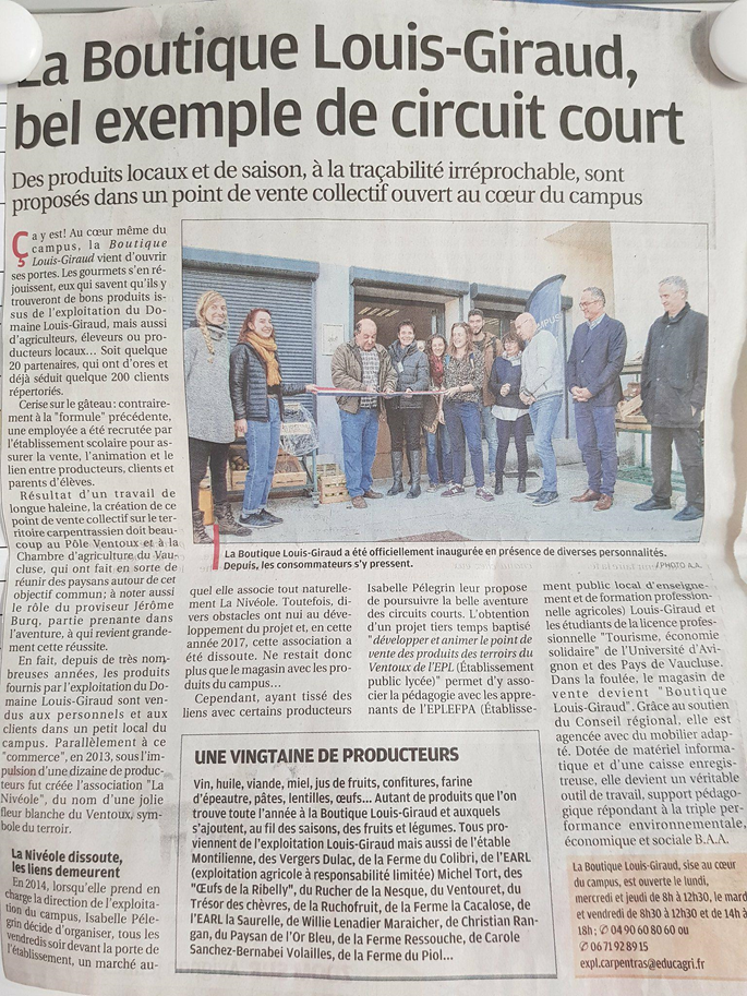 La Provence, le 5 décembre 2017