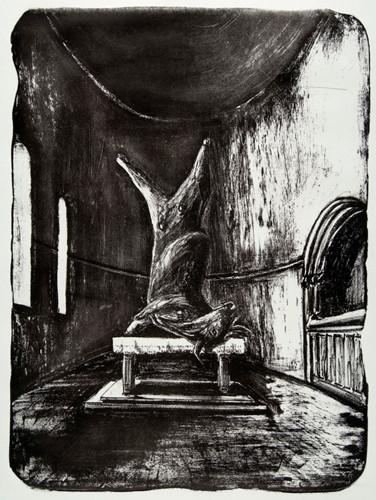 La ofrenda 2007, litografía 56X38 cm