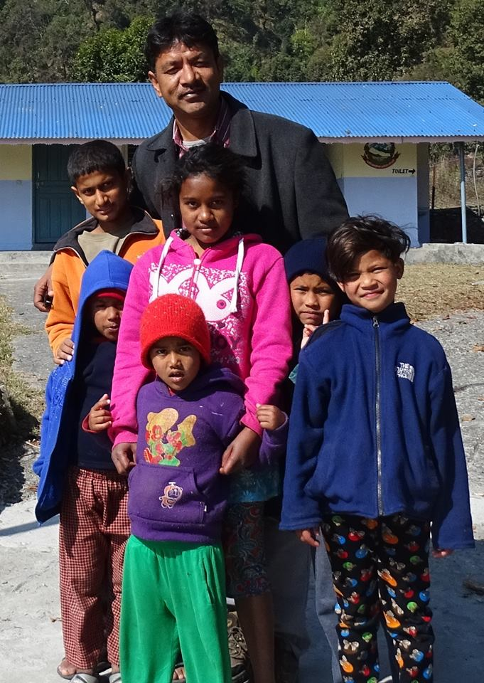 Raj K. Shrestha im Kinderdorf