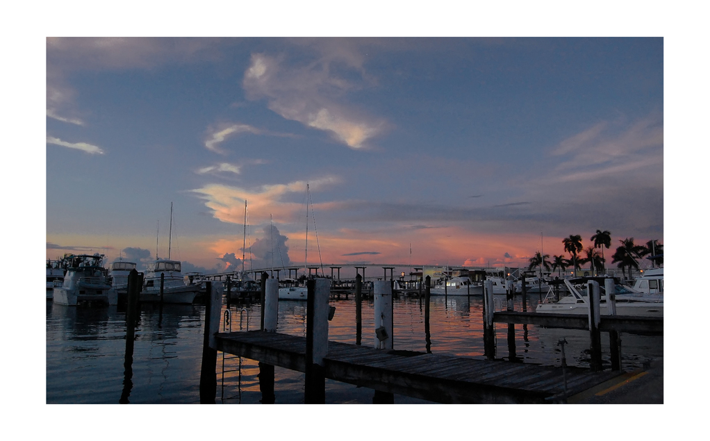 Sunset at Marina Fort Myers