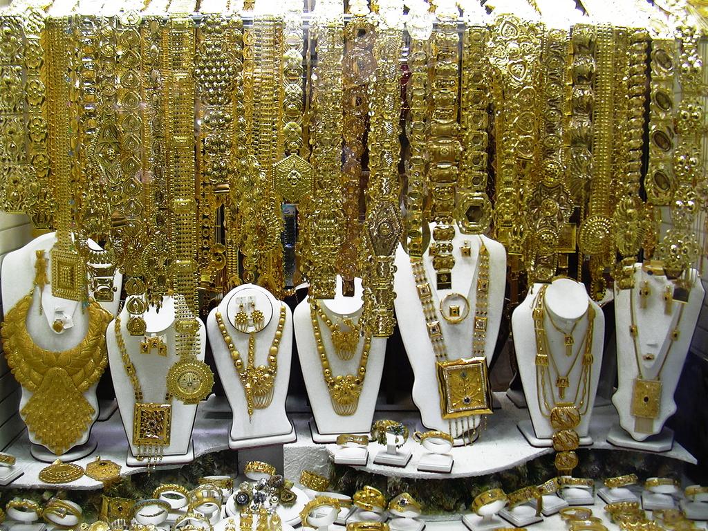 Schaufenster im Gold Souk