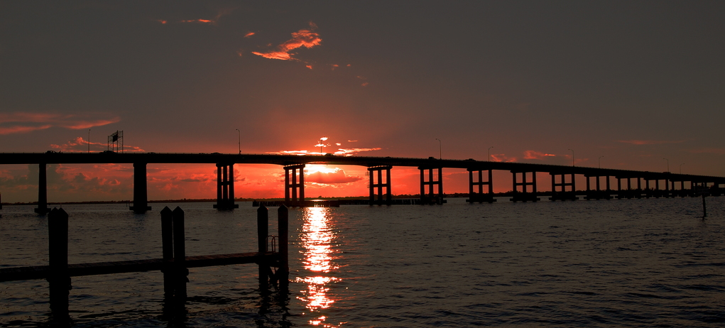 Sunset at Fort Myers Causeway