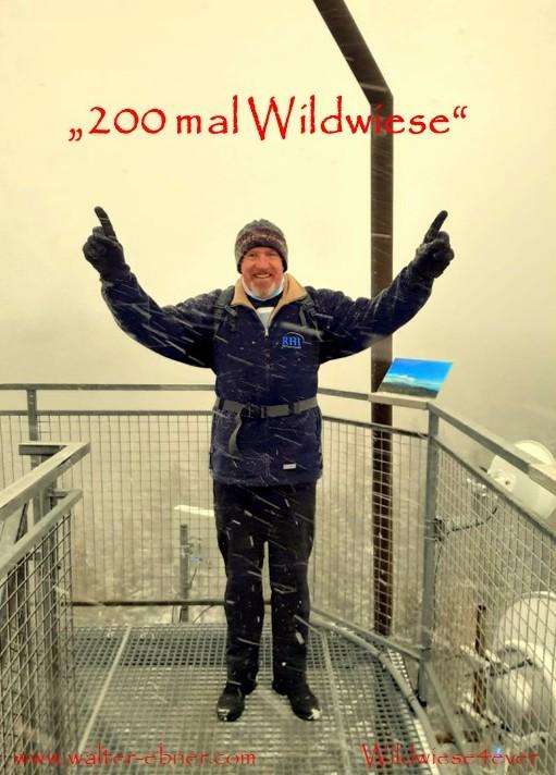 """31.12.2018 - bei winterlichen Bedingungen die """"200. Wanderung"""" auf die Wildwiese abgeschlossen. Das Leben ist schön!"""
