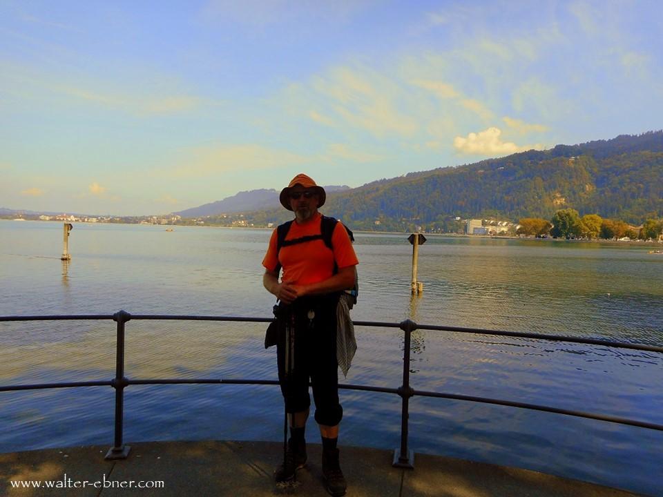 06.09.2018 - Ankunft am Bodensee in Bregenz, der Weitwanderweg 01 von Ost nach West abgeschlossen