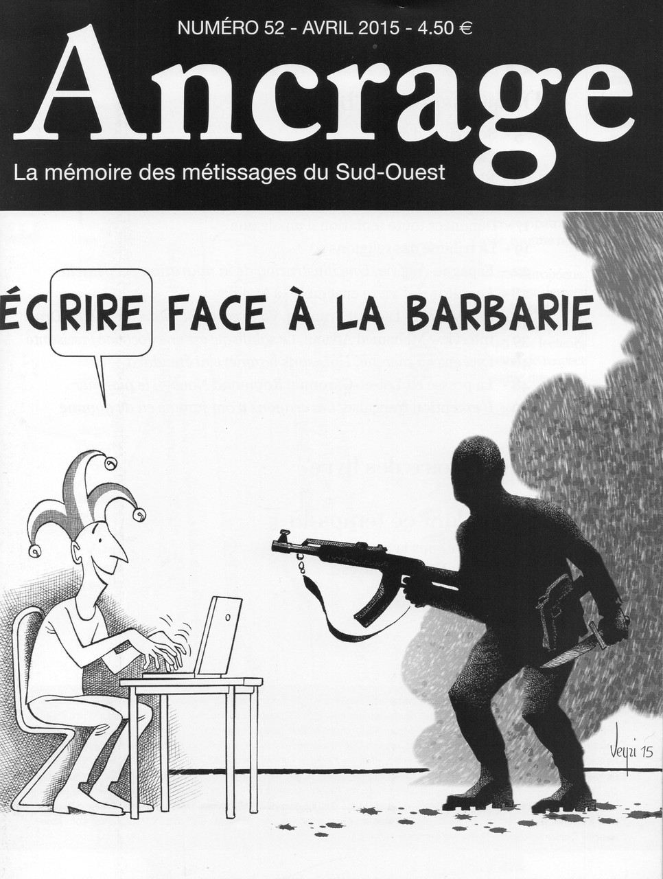 """Ancrage n° 52 - Spécial """"Après Charlie""""."""