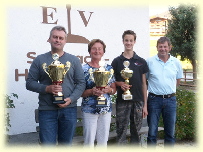 v. l.: Auernig Klaus, Reindl Traudi, Scheyerer Richard, Moser Theodor
