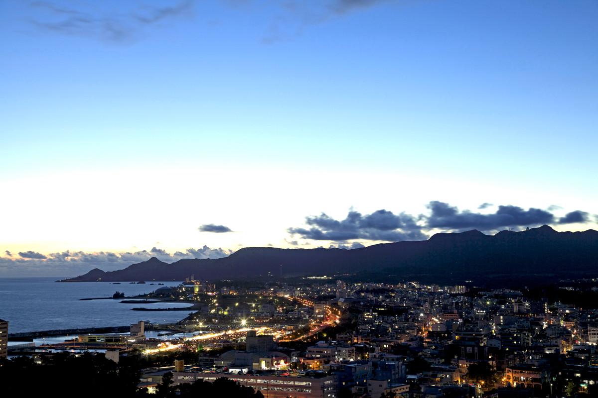 沖縄写真 名護市街 夜景