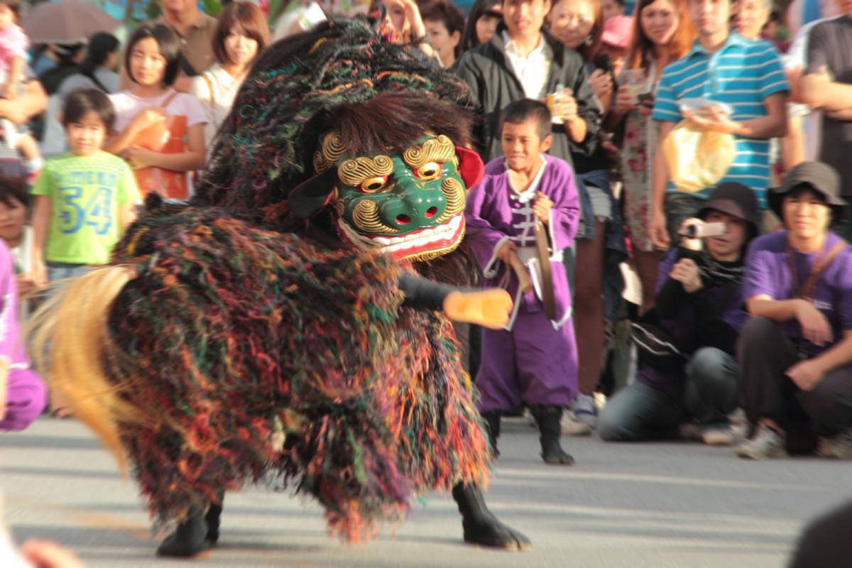 沖縄写真 獅子舞