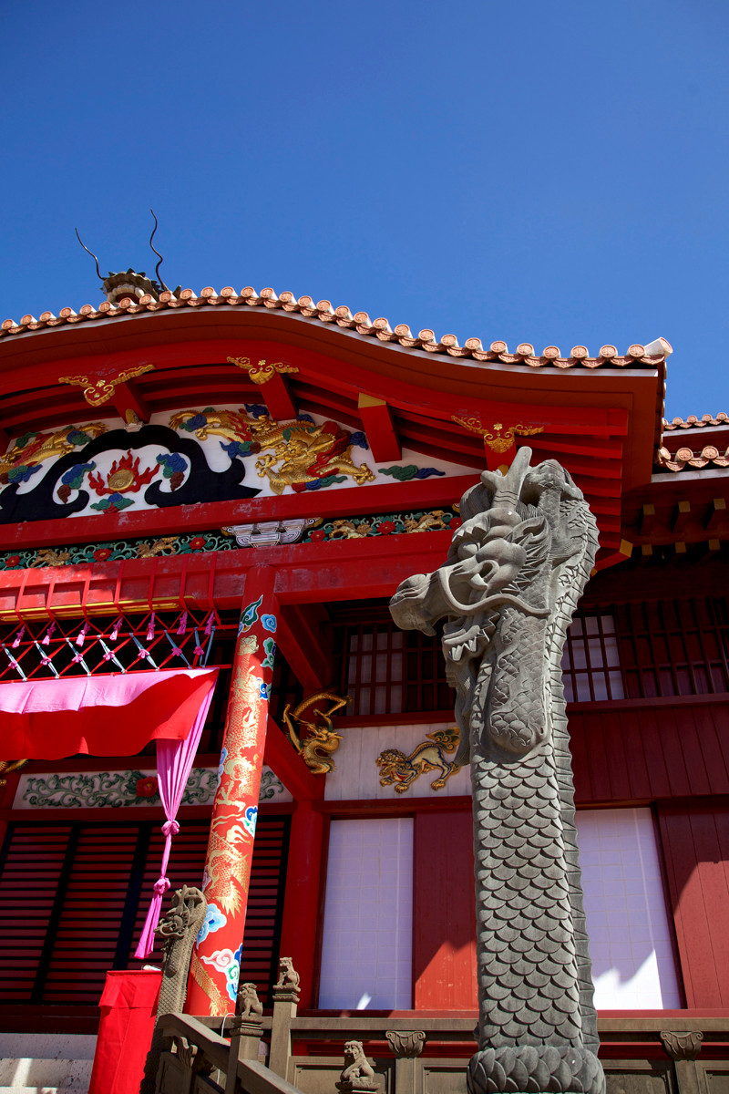沖縄写真 首里城 正殿 沖縄の世界遺産