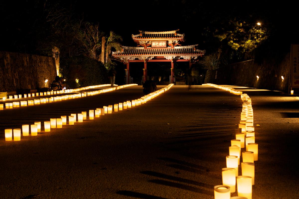 沖縄写真 首里城 守礼門 夜景