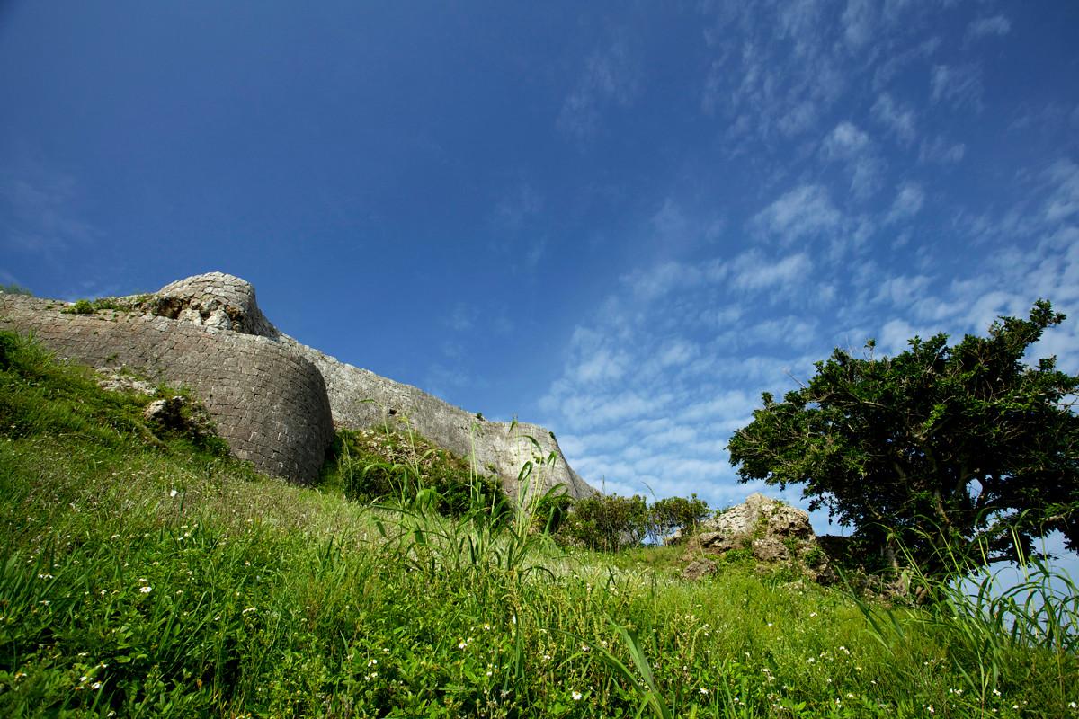 沖縄写真 勝連城跡 沖縄の世界遺産