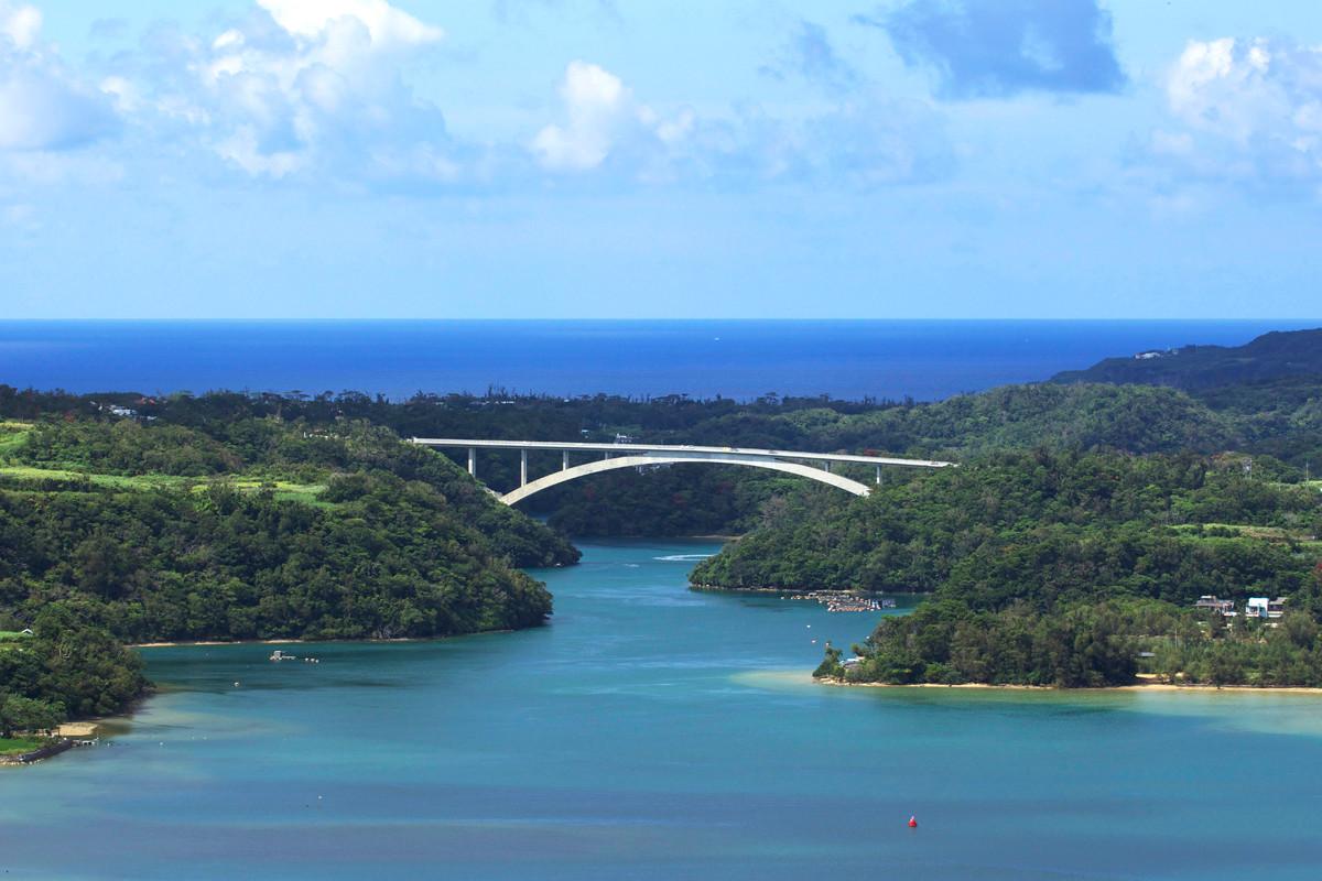 沖縄写真 ワルミ大橋 羽地内海
