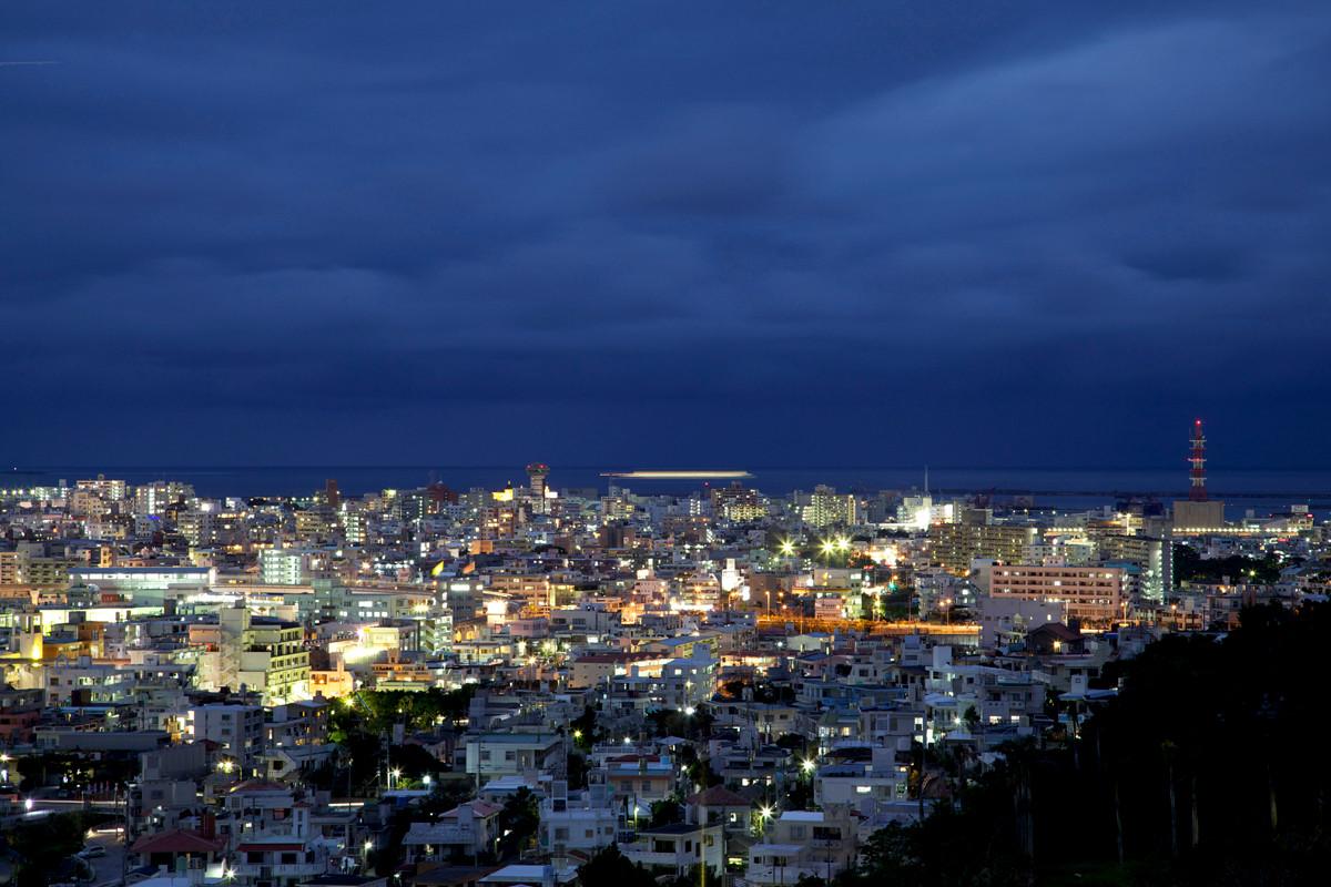 沖縄写真 那覇市街 夜景